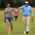 Jarrod Lyle, with wife Briony and daughter Lusi — Getty Images