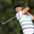 Anthony Kim hits a tee shot during a 2012 tournament.  (Getty Images)